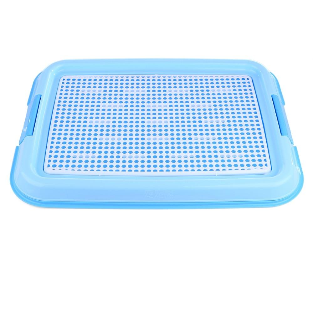 Petforu Indoor Pet Dog Toilet Training Cleaning Pad Plastic Pet Toilet Tray Mat Pet Supplies - Blue