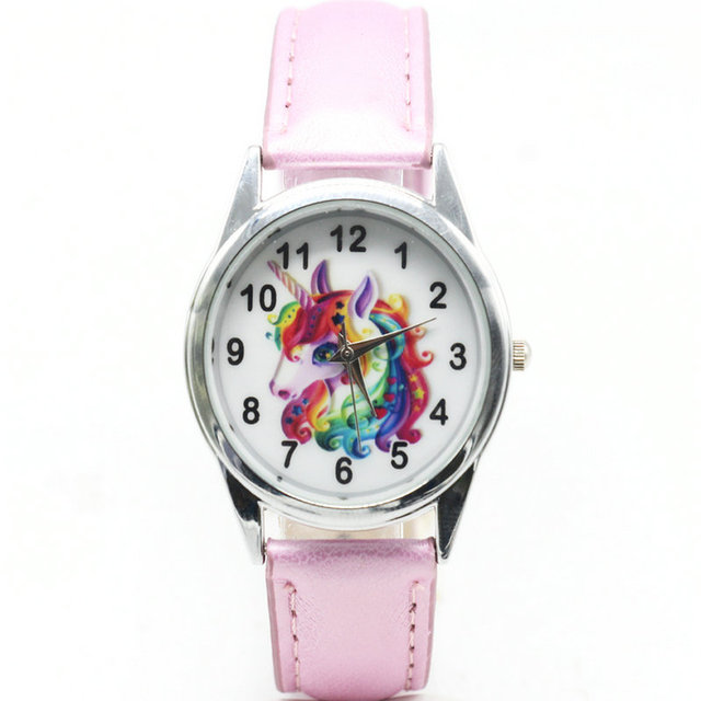 Christmas Gift Cute Unicorn Girl's Boy's Children Watch SportS Jelly Leather Wat