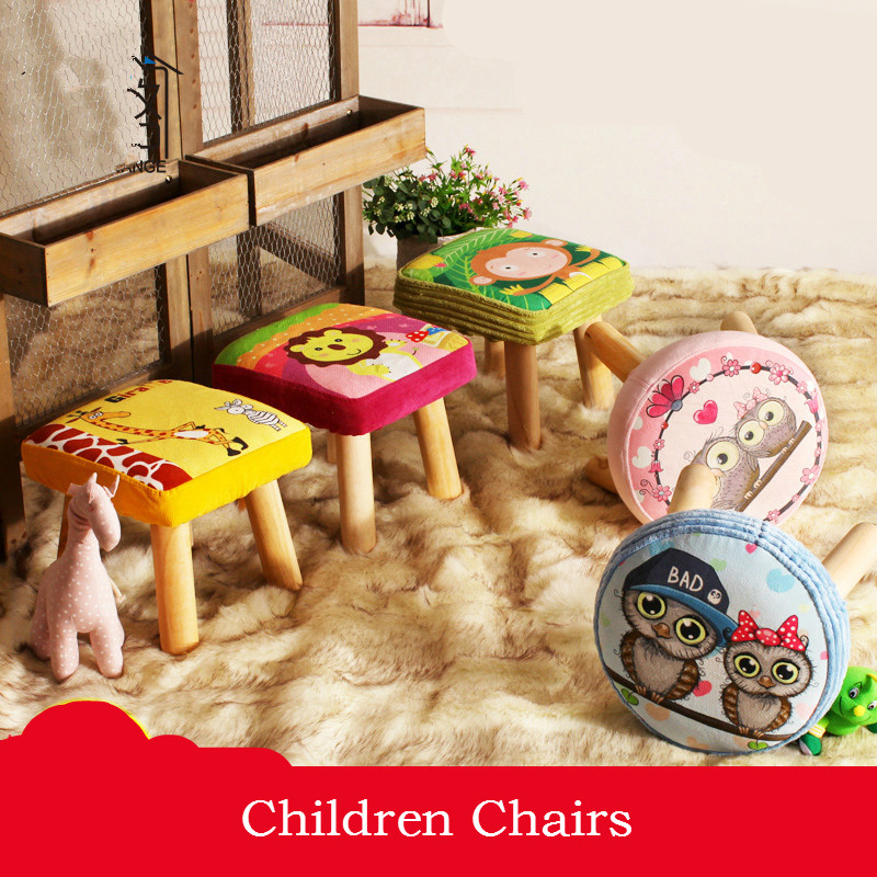 Children Stool Creative Shoes Shoe Home Solid Wood Stool Cartoon Children Sofa Stool Living Room Coffee Table Round Stool