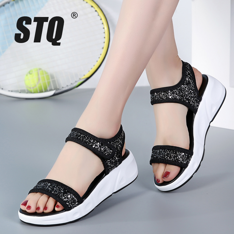 STQ Platform Sandals Shoes Wedges Heel Female Beach-Gladiator Women 1055