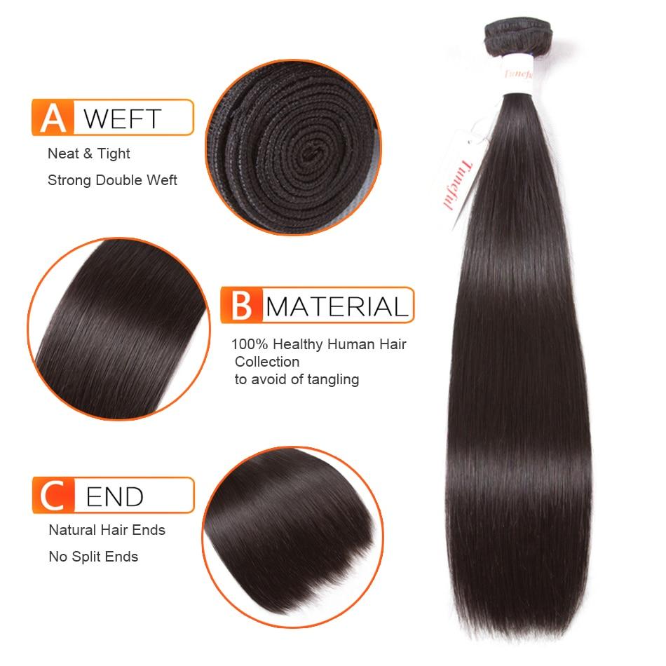 HTB1ORwWftHO8KJjSZFHq6zWJFXao Straight Human Hair 3 Bundles With Closure Tuneful 100% Remy Hair Weft Weave Extensions Brazilian Hair Bundles With Closure