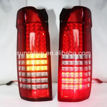 For TOYOTA HIACE Full LED Tail Lights red and white