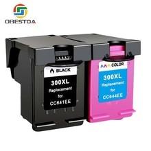 Obestda 300XL Remanufactured Ink Cartridges for HP 300 for Deskjet D1660 D2560 D2660 D5560 F2420 F2480