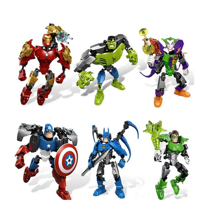 WEYA Новый 1 шт./компл. Супергероев Marvel Мстители Собрать DC Халк Капитан Америка Строительные Блоки Строительные Блоки Устанавливает Кирпичи И…