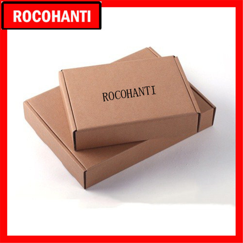 100x Custom Printed Kraft Paper Brown Recycled Corrugated Mailer Box Storage Box For Shipping