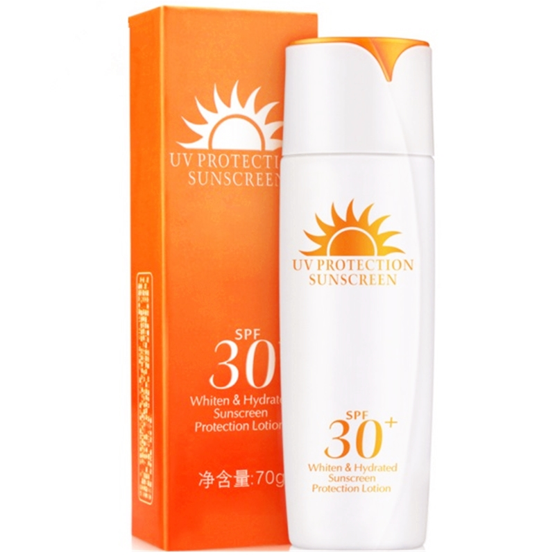 Summer Water Proof Anti Sweat Isolated font b Protection b font Sunscreen Cream Whitening Filter Solar
