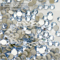 1440 PCS SS8 2.3-2.4mm LT. Sapphire Glitter Não Hotfix Roupas Azul Decorações Nail Art Natator Pedrinhas Acessórios sapatos