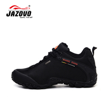 JAZOVO 2016 Man Waterproof Breathable Hiking Shoes Big Size Outdoor Boots Black Trekking Sport Sneakers Men Waterproof Shoes