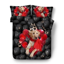 Crown Dog Bedding set Luxury quilt duvet cover bed sheets sheet Super King Queen size full twin double bed in a bag linen 4PCS feather duvet cover bedding set luxury california king queen size sheets bed in a bag sheet linen full twin double single 4pcs