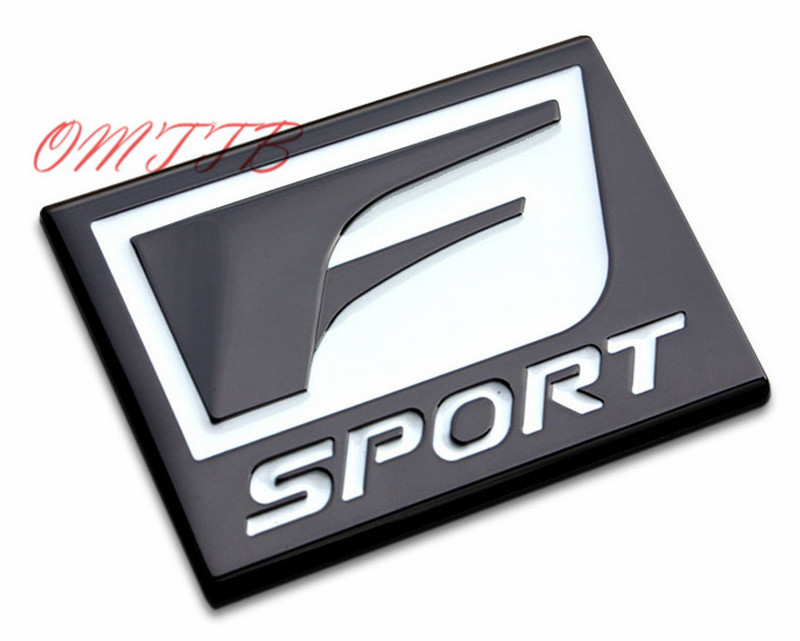 3D Metal Sticker Custom Text Personalized Stereo Letter Motorcycle Car Stickers F Sport Emblem For LEXUS IS ISF GS Car Styling