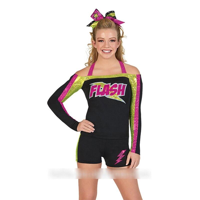 2018 uniformes de pom-pom girl en gros de haute qualité conçoivent votre propre uniforme de cheerleading
