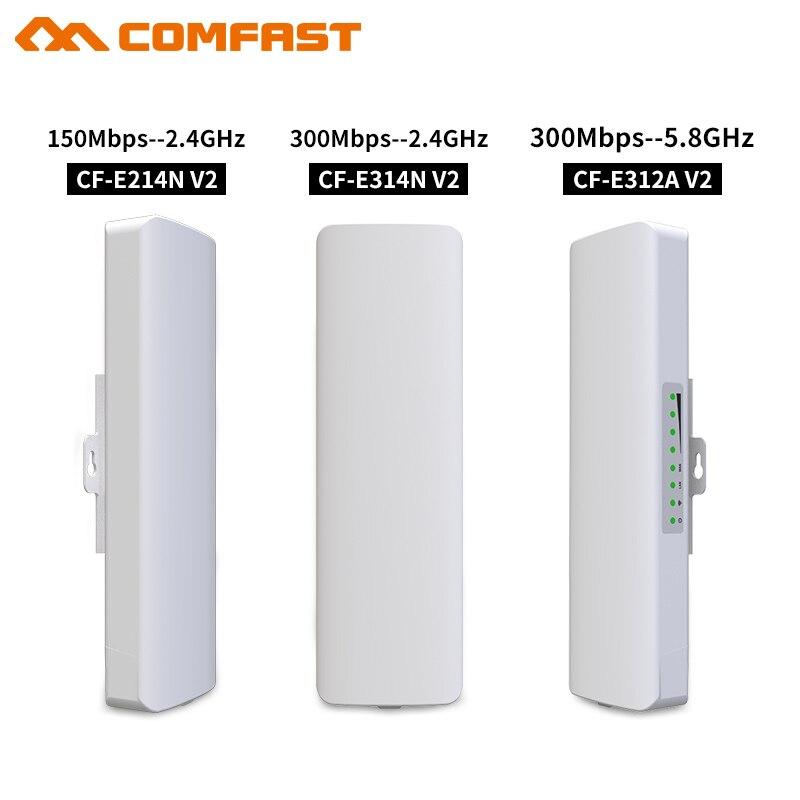 2 pièces Comfast point à point sans fil pont 300 Mbps 150 Mbps routeur extérieur 2.4G & 5.8G WIFI amplificateur réseau WiFi point d'accès