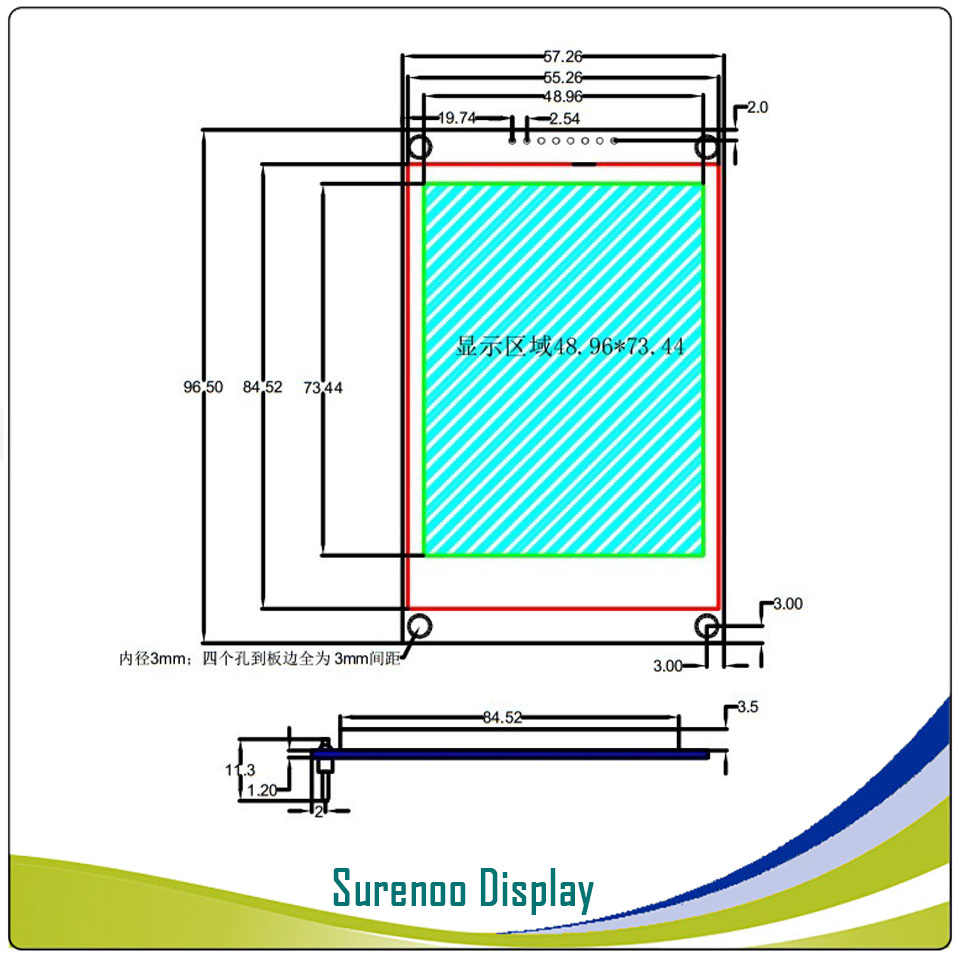 3 5 inch 320*480(RGB) 8PIN SPI TFT Color LCD Module Display Screen with PCB  Adapter Board ILI9486 Driver