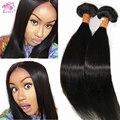 Hot clipe em extensões de cabelo humano virgem Remy clipe Ins Natural 70 g ~ 120 g dupla forte trama reta de seda do cabelo