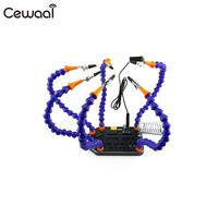 Cewaal Universal Helping Hands Third Hand Six Arm Soldering Station With Swiveling Alligator Clip Drone Accessories