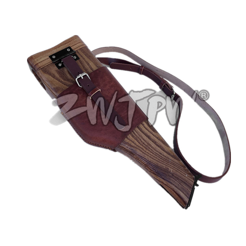 Фотография WWII Army C96 Mauser Wooden Holster With Leather Strap(HQ) CN.DE/1031124