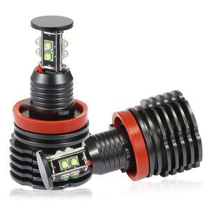Image 5 - 2pcs H8 LED 천사 눈 헤일로 링 조명 120W BMW E60 E61 E71 E70 LCI E90 E91 X5 천사 눈 헤드 라이트 LED 자동차 헤드 램프