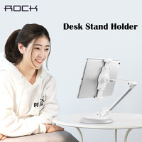 ROCK Universal 5 10.5inch Tablet PC Phone Holder Stand Folding Lazy Holder For iPad Pro Air Mini 4 Desk Table Bracket Stand
