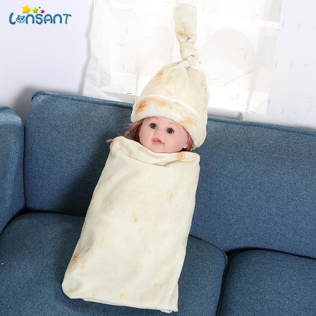 Toddler Burrito Blanket Flour Tortilla Swaddle Blanket Sleeping Swaddle Wrap Set