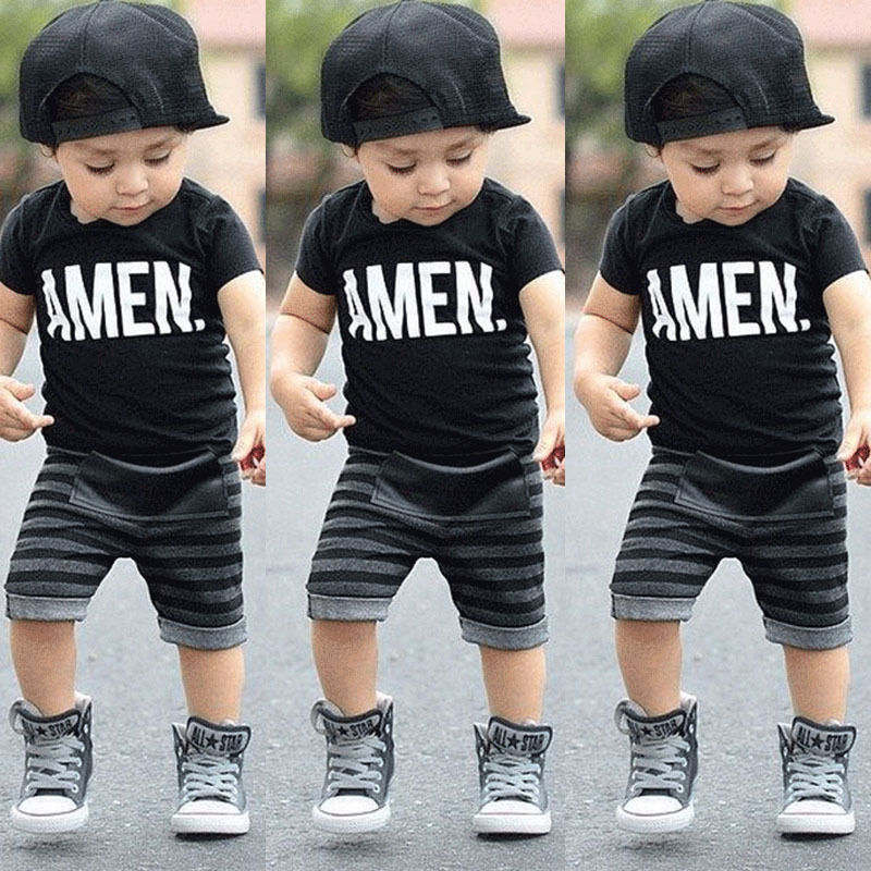 Toddler Baby Kids Boys Жазғы Киім Топы Футболка Шалбарлар Одевники Set Size 2T-6T Тегін жеткізу