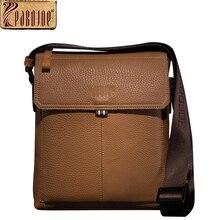 Pabojoe Mens Sling Shoulder Bag Business Chest Crossbody Bag 100% Genuine Leather Soft