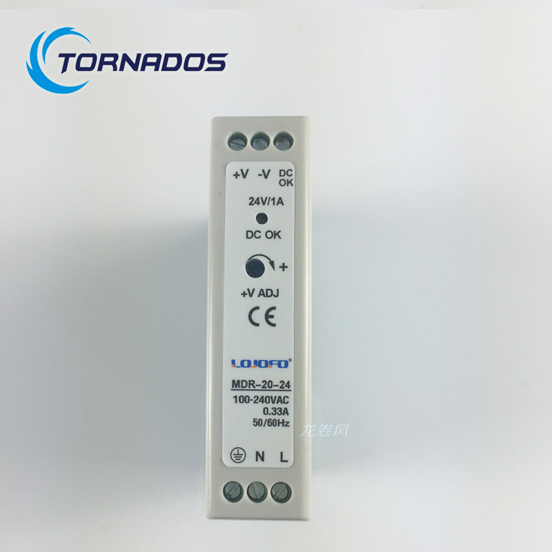 MDR-20-24 DC OK relay contact 24v 1A watts switching power  ac to dc Din rail mounted Power supply