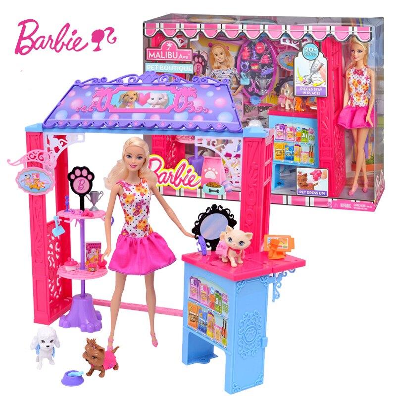 Barbie Friends House Miniatures Dollhouse Kit Cute Room Baby Girl Toys miniaturas Poppenhuis Casa de Boneca Oyuncak BDF49 цена