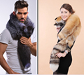 Real full fur skin scarf women red fox scarves shawls man natural soft big silver fox couple's warp collar Phillips Fox