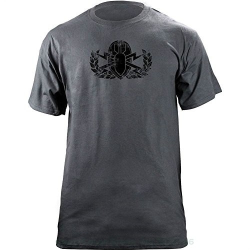 T Shirts Casual Brand Clothing Cotton Vintage Army Eod Badge Subdued Veteran T shirt Funny Streetwear Hip Hop Short Shirt in T Shirts from Men 39 s Clothing