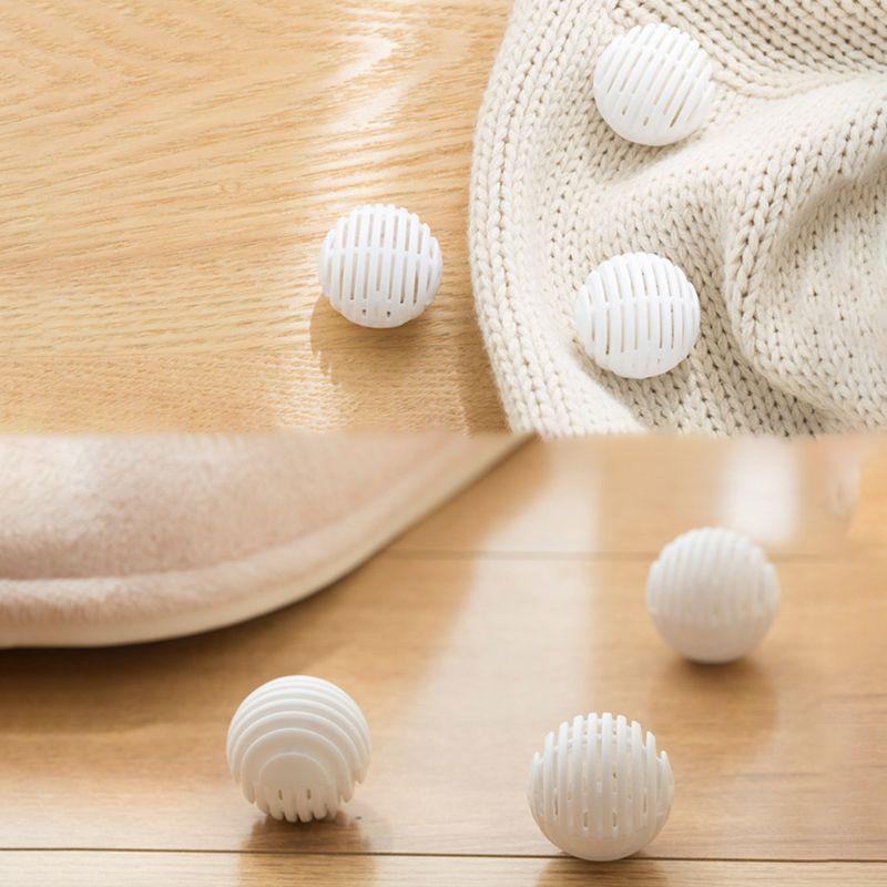 12pcs Mini Ball Shape Shoe Deodorant Dryer Moisture Absorber Antimildew Bactericidal Wardrobe Drawer Bathroom Car