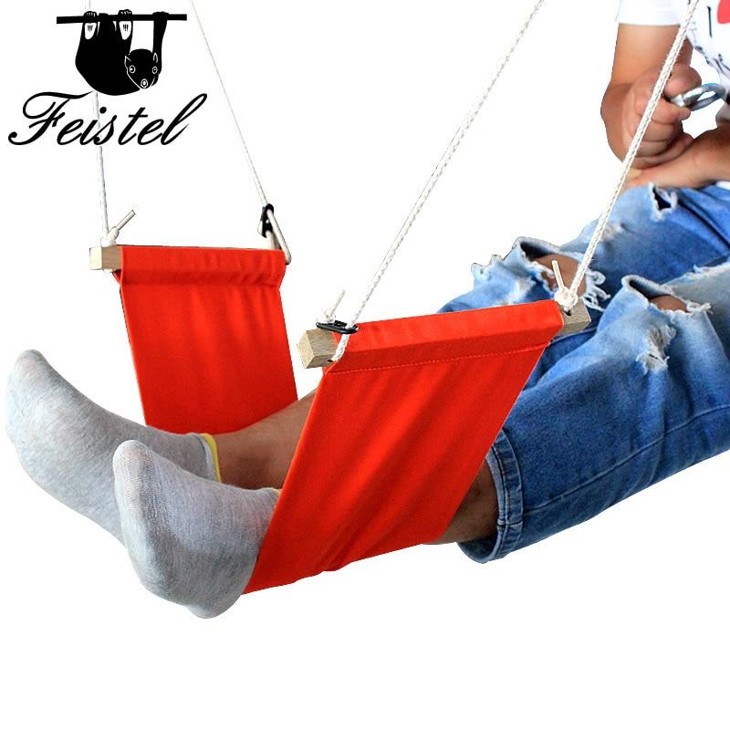 Promotion Portable Desk Hanging Hammock To Relax Double Leg Foot Hammocks