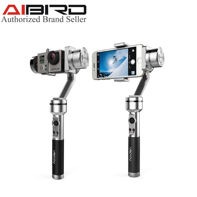10 unids AIbird Uoplay $ Number Ejes de Mano Universal smartphone de Alto Brillo Constante Cardán GoPro Estabilizador para el teléfono Inteligente y Acción Cam