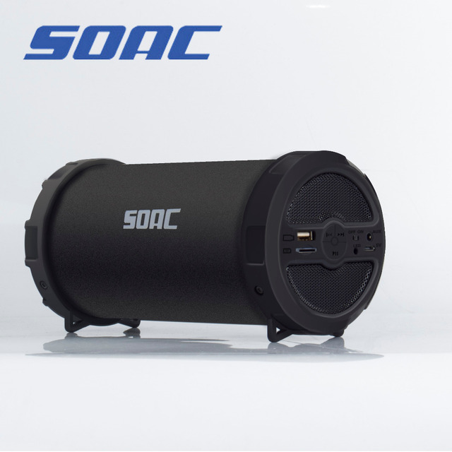US $13 78 |SOAC Cardable Bazooka Bluetooth Speakers For Outdoor Running  Mountain Trip Travel Mp3 player and Radio FM -in Outdoor Speakers from