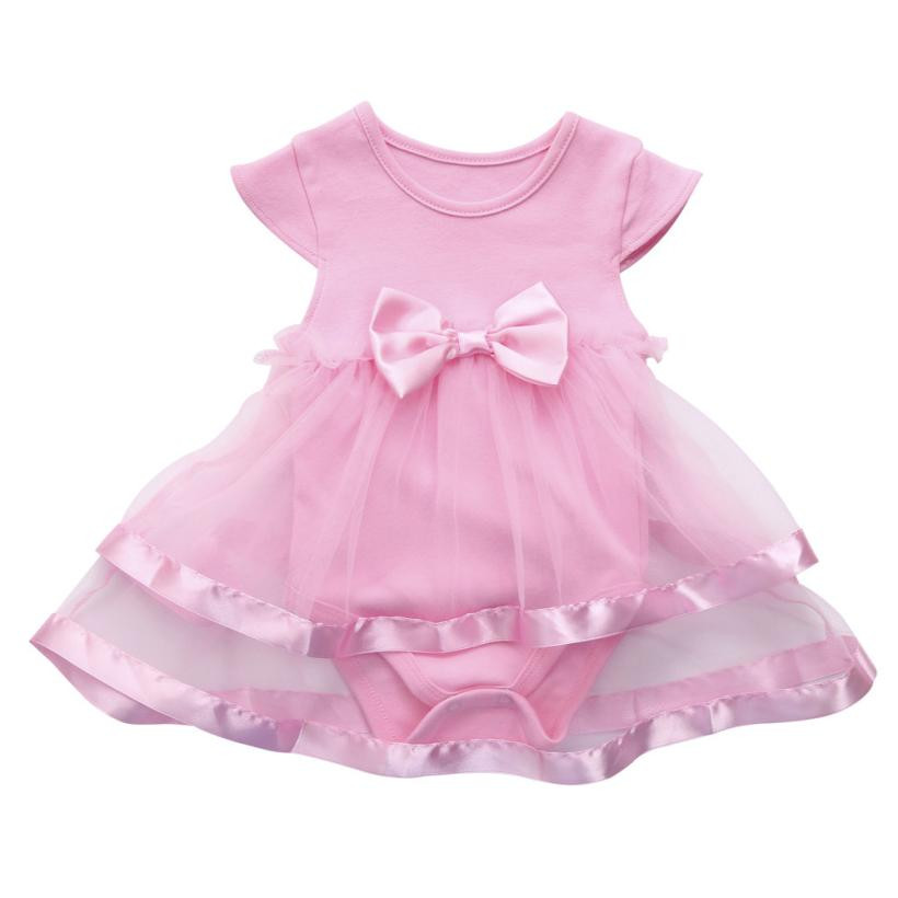 Infant Party Desses Baby Girls Birthday Tutu Princess Dress Bow Patchwork Jumpsuit Romper Clothes Vestidos De Verao #Y130 ...