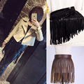 3 Colors Women Fringe Tassel Leather Belts Hot New Stylish Ladies High Waist Waistband Punk Clothes Accessories Wholesale