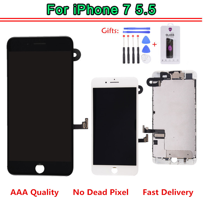 Complete LCD For iPhone 7 Plus Touch Screen Display Full Set Assembly Replacement With Tool Kit
