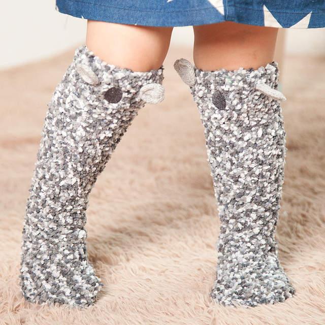 58522dcf0e8 placeholder 1 pair cartoon animals warm soft baby knee high socks unicorn  long anti-slip floor