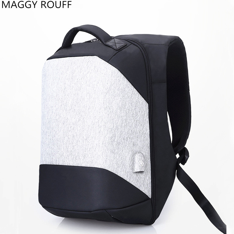 2017 New Teenage Male Fashion Leisure Travel Backpack 17 Inch Laptop Charging USB Multifunction Backpacks Anti Theft Backpack