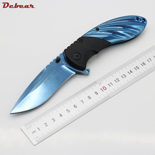 Dcbear Tactical Folding Blade Knife 3CR13MOV Blade Mirror Light Surface Outdoor Gear EDC Pocket Best Gift Tool Knife