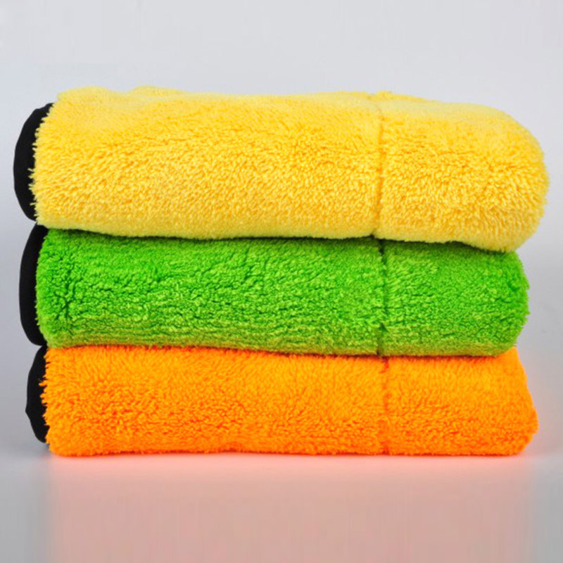 New Ultra-Thick Plush Microfiber Car Cleaning Cloth Car Care Microfibre Wax Polishing Detailing Towels 45x38cm Auto Care CSL2017