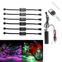 Motorcycle Atmosphere Light Colorful Decorative Lamp Wireless Remote Control LED Car Motorcycle Decor Accessories Light