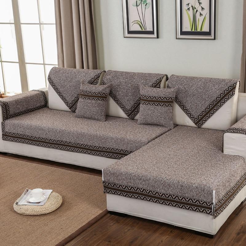Modern Sofa Cover 100% Cotton Geometric Printed corner sofa cover home furniture protector Four Seasons Anti-slip sofa bed cover