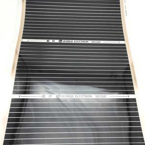 Image 3 - 50 Square Meters Electric Floor Heating Mat Infrared Radiant Heat Film Mat with Wifi Room Thermostats Clamps