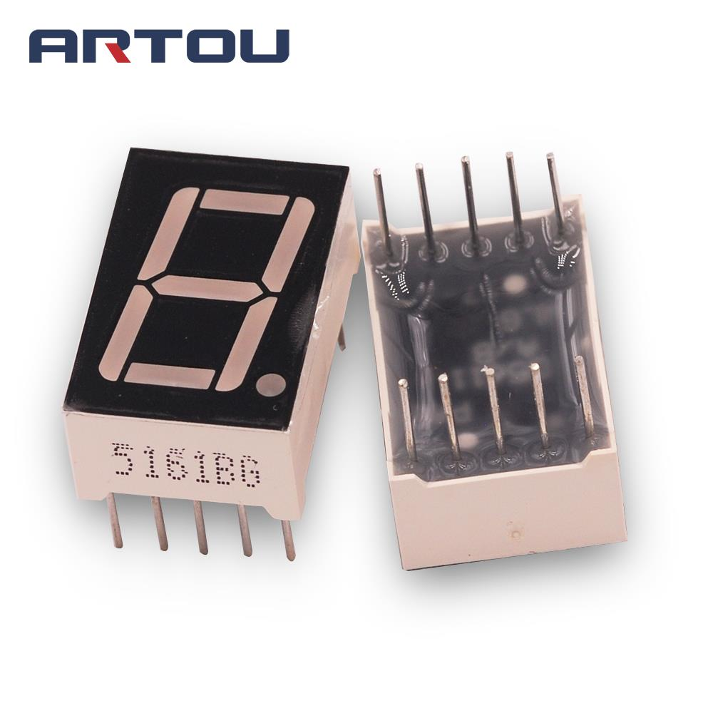 1.8inch 7segment RED 4.5v LED display common anode 15pcs