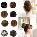 1PC Natural Hair Chignon Bun Extension Synthetic Updo Hair Bundles Hairpiece Scrunchie Bun Straight Chingnons Women Q3
