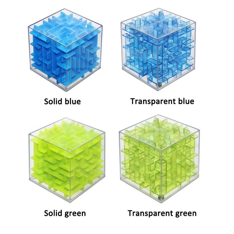 Green Maze Magic Cube Puzzle 3D Mini Speed Cube Labirint - Uganke