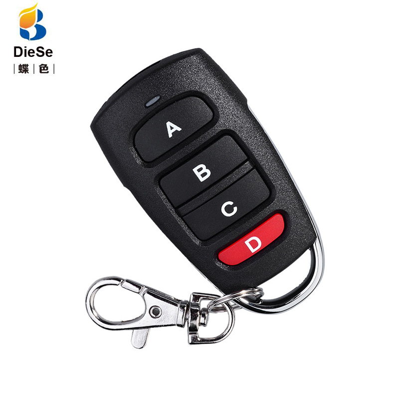433MHz Remote Control Duplicator Cloning Copy Came for Garage Door Opener 4 buttons RF Learning Copying Transmitter