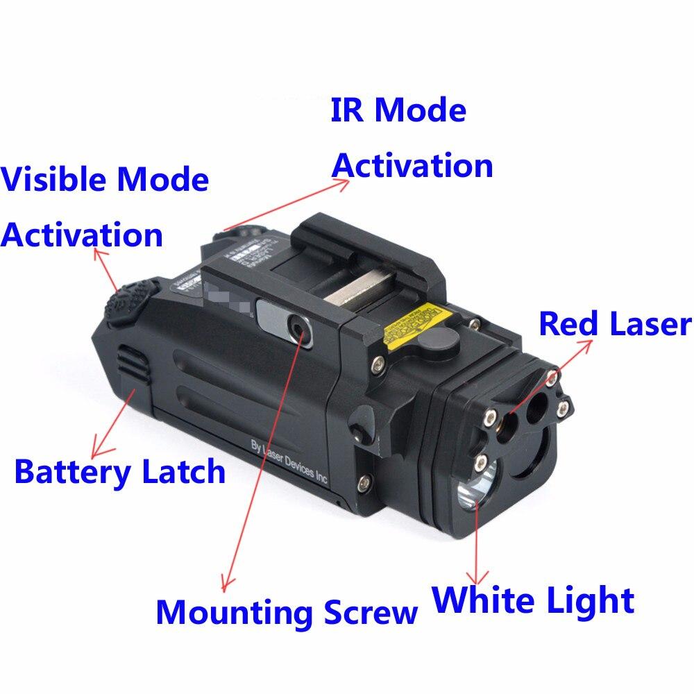 Lampe de poche tactique de chasse DBAL-PL lampe de poche LED avec 400 Lumens Laser rouge NV illuminateur et lumière IR pour la chasse aux fusils