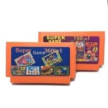 Venda quente 2 peça Game Collection (360 em 1 + 198 em 1) 60 Pinos Cartucho de Jogo Para O Console Do Jogo de 8 Bits