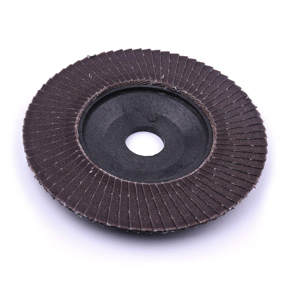 20 pièces 4 pouces rabat ponçage disque de meulage oxyde d'aluminium A/O 320/240/180/120/80 grain